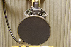 Prefessional studio microphone in sound booth Royalty Free Stock Photography