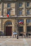 Prefettura della parte anteriore della polizia otorinolaringoiatrica Fotografia Stock