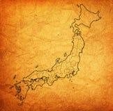Prefetture del Giappone sulla mappa dell'amministrazione immagine stock libera da diritti