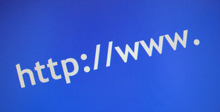 Prefix to internet websites. Http://www. prefix to internet website addresses Stock Photography