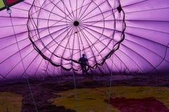 Preflight checks from inside a hot air balloon Royalty Free Stock Photo