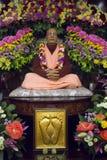 Pregador de Krishna da lebre - figura de Svami Prabhupada fotos de stock