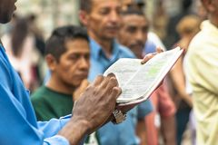 Pregador evangélico fotografia de stock