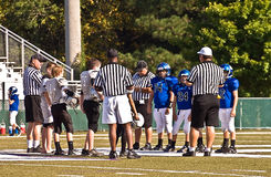 Pregame Instructions, Little League Football Stock Photography