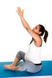 Pregancy Fitness Meditation Stock Photos