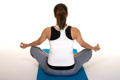 Pregancy Fitness Meditation Royalty Free Stock Images