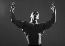 Pregando al dio dello sport Fotografia Stock