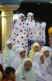 Pregando nella moschea Fotografie Stock