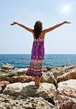 Pregando sotto il sole Fotografia Stock Libera da Diritti