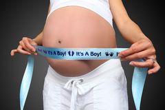 Pregant Woman with Boy Stock Images
