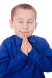 Pregare bambino Fotografia Stock Libera da Diritti