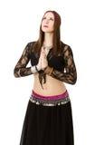 Pregare del ballerino di pancia fotografie stock libere da diritti
