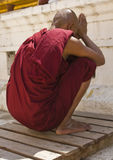 Pregare del monaco Fotografia Stock