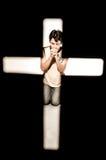 Pregare dell'uomo. Fotografie Stock