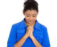 Pregare della donna Immagine Stock Libera da Diritti