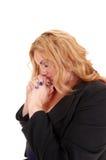 Pregare della donna di affari fotografie stock libere da diritti