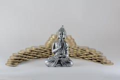 Pregare di Buddha Fotografie Stock