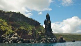 Pregare monaco sulla baia del bucaniere in Santiago Island Fotografia Stock Libera da Diritti