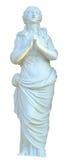 Pregare nubile della scultura isolato Fotografia Stock Libera da Diritti