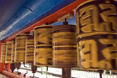 Pregare ruota, Gangtok, Sikkim, India Fotografia Stock