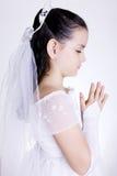 Preghi fotografia stock