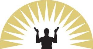 Preghi illustrazione vettoriale
