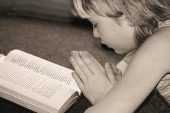 Preghi appena Fotografia Stock