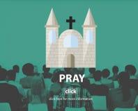 Preghi il concetto spirituale di fede di confessione di religione di preghiera Fotografia Stock