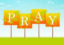 Preghi il segno Fotografie Stock Libere da Diritti