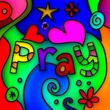Preghi il vetro macchiato Fotografia Stock Libera da Diritti