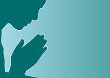 preghi la scheda illustrazione vettoriale