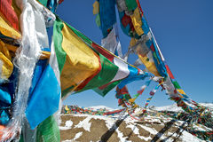 Preghi le bandiere, Nyingchi, Tibet Fotografia Stock