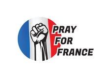Preghi per france2 Fotografie Stock Libere da Diritti
