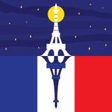 Preghi per il vettore di Parigi Fotografia Stock Libera da Diritti