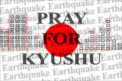 Preghi per Kyushu, Giappone Fotografia Stock Libera da Diritti