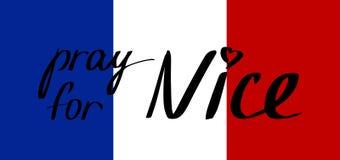 Preghi per Nizza Fotografia Stock