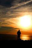 Preghiera all'infinità Fotografie Stock