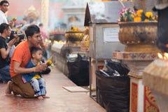 Preghiera buddista Fotografie Stock Libere da Diritti