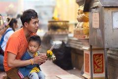 Preghiera buddista Fotografia Stock Libera da Diritti