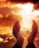 Preghiera a cielo Fotografia Stock Libera da Diritti