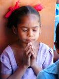 Preghiera dei bambini Fotografia Stock Libera da Diritti