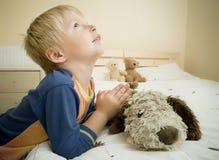 Preghiera del bambino Fotografie Stock