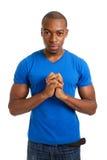 Preghiera dell'allievo maschio Fotografie Stock Libere da Diritti