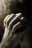 Preghiera dell'uomo Fotografie Stock