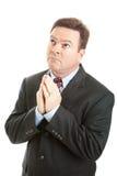 Preghiera dell'uomo d'affari Immagine Stock Libera da Diritti