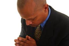 Preghiera dell'uomo dell'afroamericano Fotografia Stock