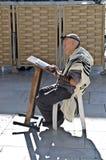 Preghiera dell'uomo dell'ebreo Fotografie Stock Libere da Diritti