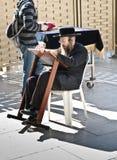 Preghiera dell'uomo dell'ebreo Immagine Stock