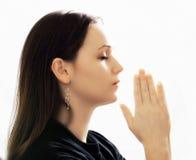 Preghiera della donna Immagini Stock Libere da Diritti