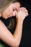 Preghiera della persona Fotografie Stock